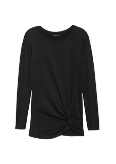 Banana Republic Luxespun Twist-Front T-Shirt