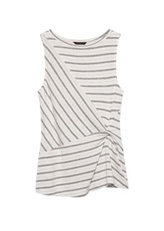 Banana Republic Luxespun Twist-Front Top