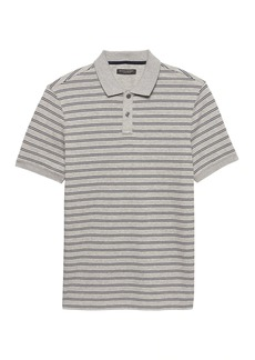 Banana Republic Luxury-Touch Allover Stripe Polo
