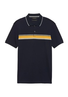 Banana Republic Luxury-Touch Chest Stripe Polo