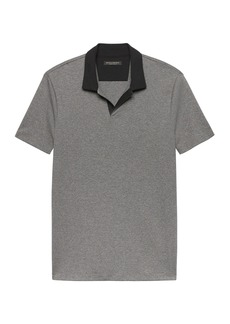 Banana Republic Luxury-Touch Contrast Johnny Collar Polo