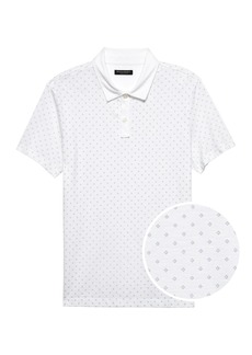 Banana Republic Luxury-Touch Diamond Print Polo