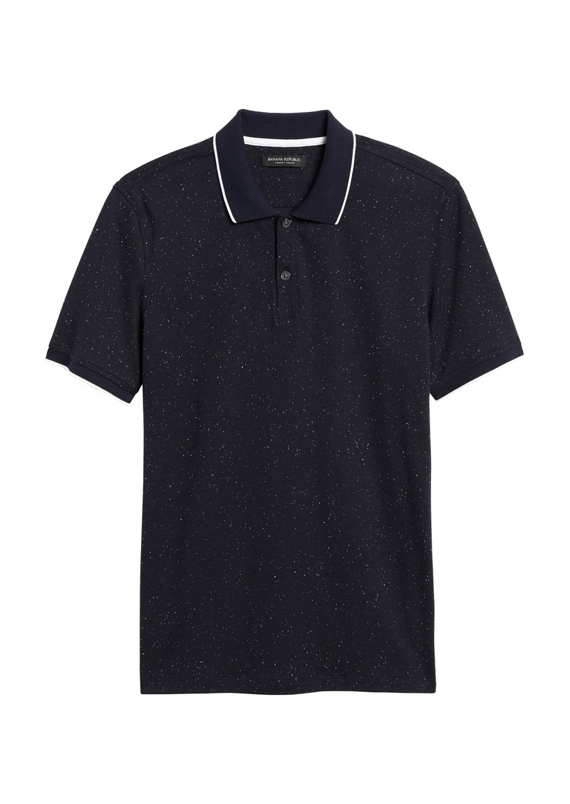 Banana Republic Luxury-Touch Heathered Polo