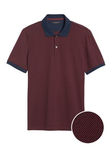 Banana Republic Luxury-Touch Herringbone Polo