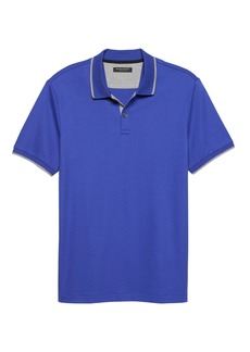 Banana Republic Luxury-Touch Jacquard Collar Polo