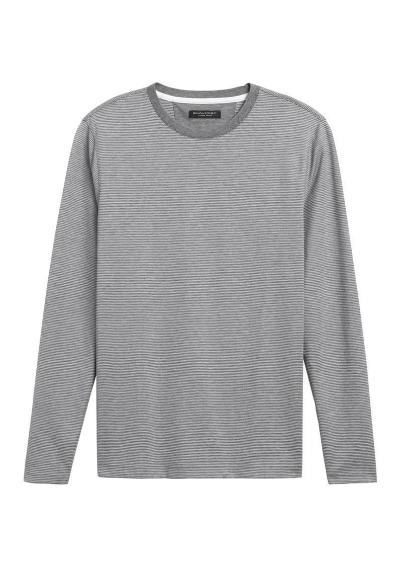 Banana Republic Luxury-Touch Long-Sleeve T-Shirt