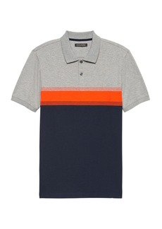 Banana Republic Luxury-Touch Performance Chest Stripe Polo