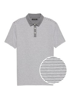 Banana Republic Luxury-Touch Performance Contrast-Collar Polo