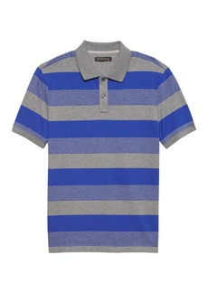 Banana Republic Luxury-Touch Performance Stripe Polo