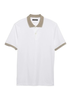 Banana Republic Luxury-Touch Contrast Collar Polo