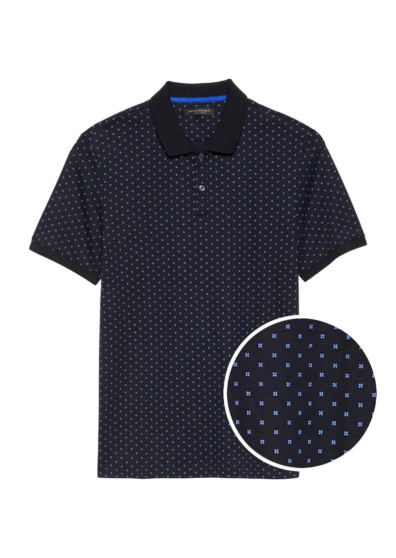 Banana Republic Luxury-Touch Printed Polo