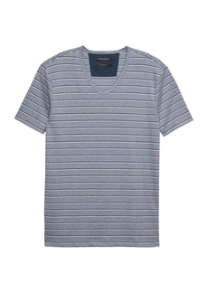 Banana Republic Luxury-Touch Stripe V-Neck T-Shirt