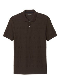 Banana Republic Luxury-Touch Textured Stripe Polo