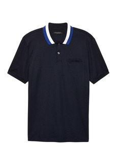 Banana Republic Luxury-Touch Tri-Color Collar Polo