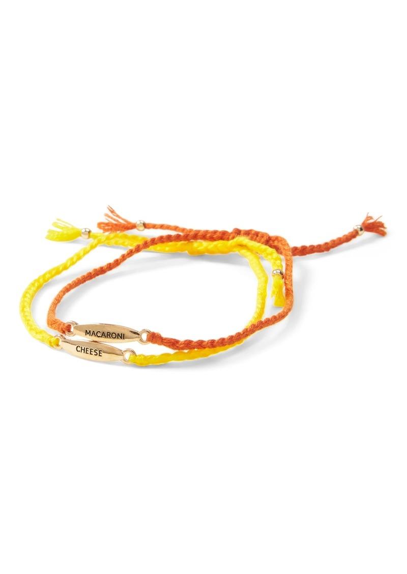 Banana Republic Mac & Cheese Slider Bracelet