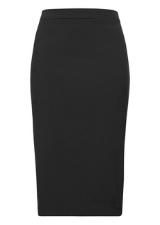 Banana Republic Machine-Washable Italian Wool Blend Pencil Skirt with Side Slit