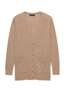 Banana Republic Machine-Washable Merino Wool Boyfriend Cardigan Sweater