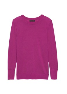 Banana Republic Machine-Washable Merino Wool Crew-Neck Sweater