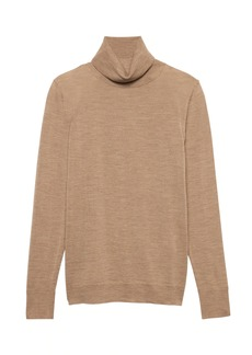 Banana Republic Machine-Washable Merino Wool Turtleneck Sweater