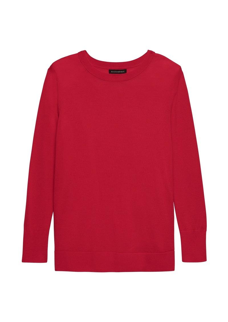 ede42fdf5a1 Banana Republic Washable Merino Wool Crew-Neck Sweater