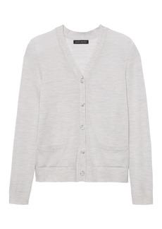Banana Republic Machine-Washable Merino Wool Cropped Cardigan Sweater