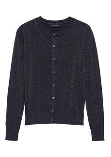 Banana Republic Washable Merino Wool Metallic Cardigan Sweater