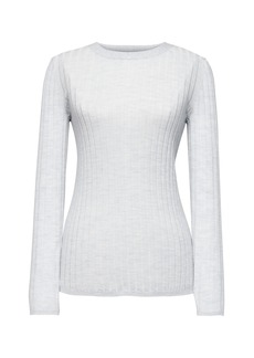 Banana Republic Machine-Washable Merino Wool Fitted Crew-Neck Sweater