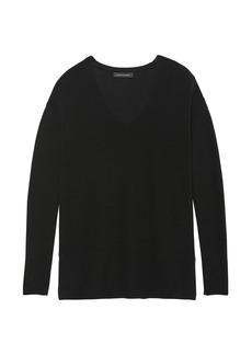 Banana Republic Machine-Washable Merino Wool Ribbed Tunic Sweater