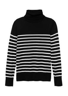 Banana Republic Washable Merino Stripe Turtleneck Sweater