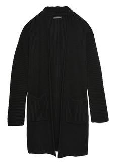 Banana Republic Machine-Washable Wool-Cashmere Coatigan Sweater