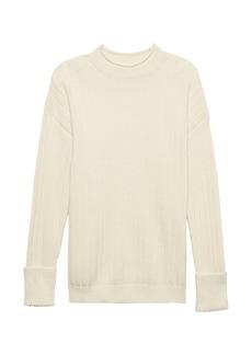 Banana Republic Washable Wool-Cashmere Ribbed Sweater