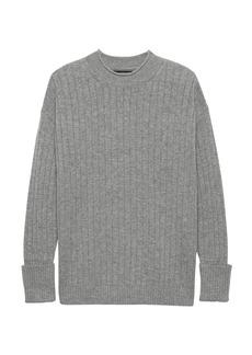 Banana Republic Machine-Washable Wool-Cashmere Ribbed Sweater