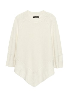 Banana Republic Washable Wool-Cashmere Sweater Poncho