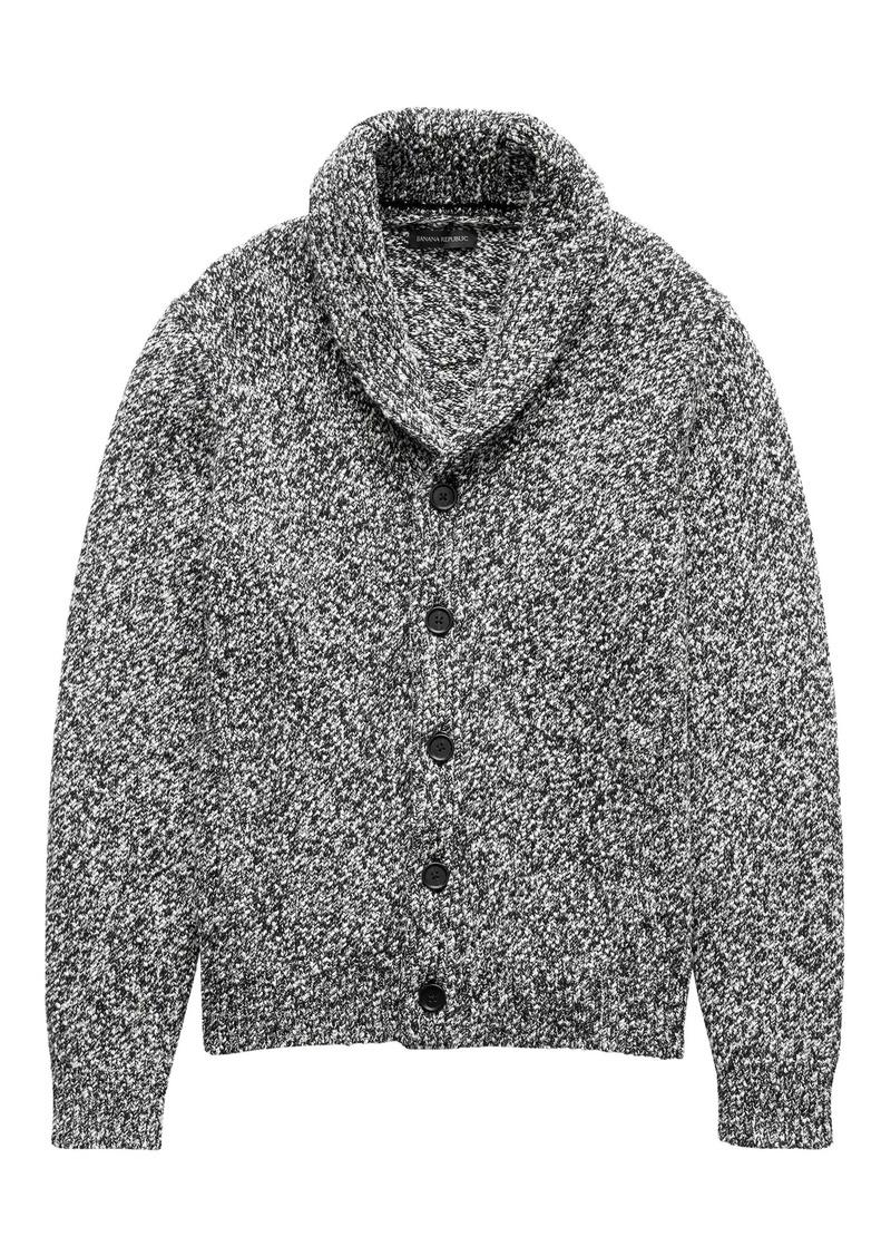 4ba798ec5b Banana Republic Marled Cotton Shawl-Collar Cardigan Sweater | Sweaters