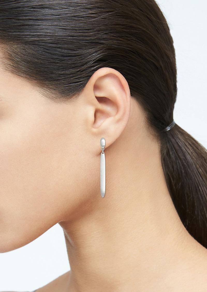 Banana Republic Matte Silver Linear Earrings