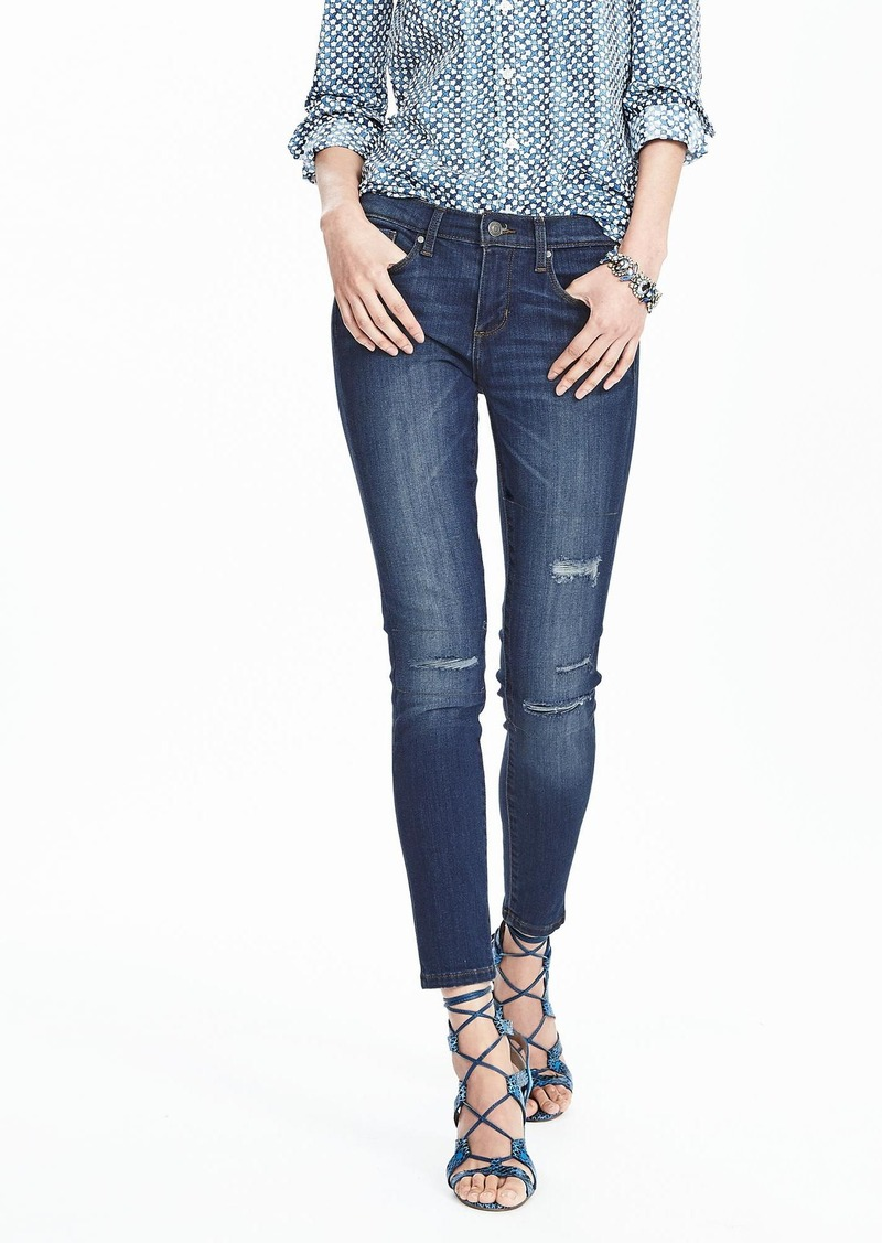 Banana Republic Medium Wash Skinny Ankle Jean