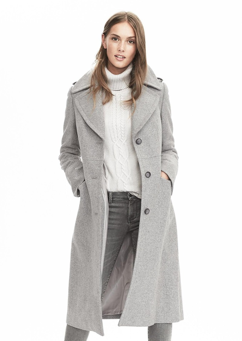 Banana Republic Melton Wool Fitted Coat | Outerwear - Shop It To Me