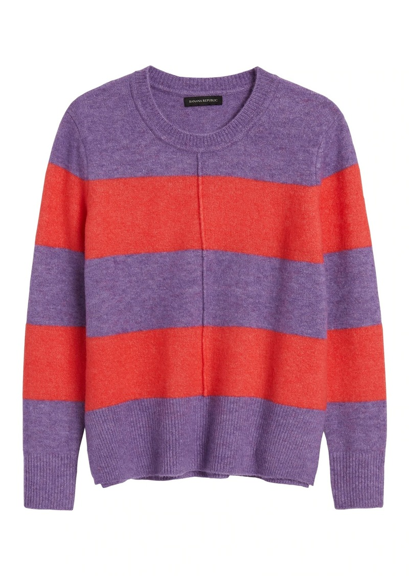 Banana Republic Merino-Blend Center-Seam Sweater