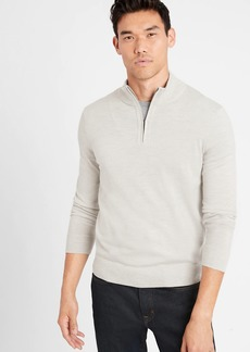 Banana Republic Merino Half-Zip Sweater