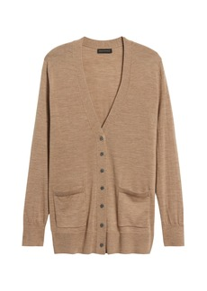 Banana Republic Merino Long Cardigan Sweater in Responsible Wool