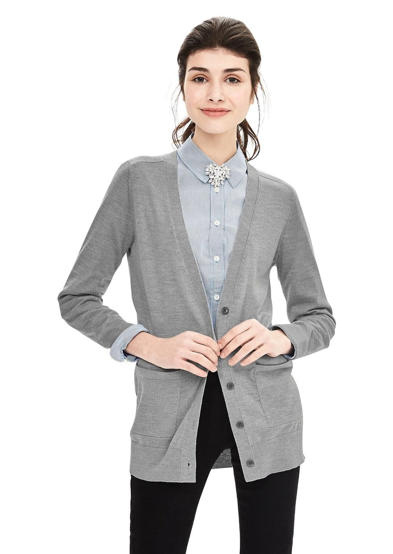 Banana Republic Merino Wool Boyfriend Sweater Cardigan