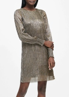 Banana Republic Metallic Boat-Neck Shift Dress