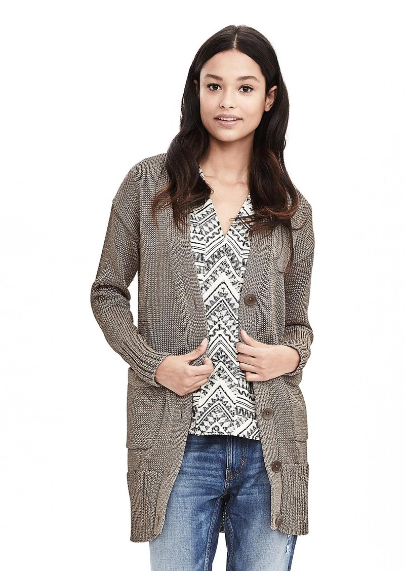 Banana Republic Metallic Boyfriend Cardigan