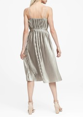 Banana Republic Metallic Pleated Dress