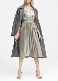 Banana Republic Metallic Pleated Dress
