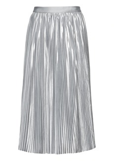 Banana Republic Metallic Pleated Midi Skirt