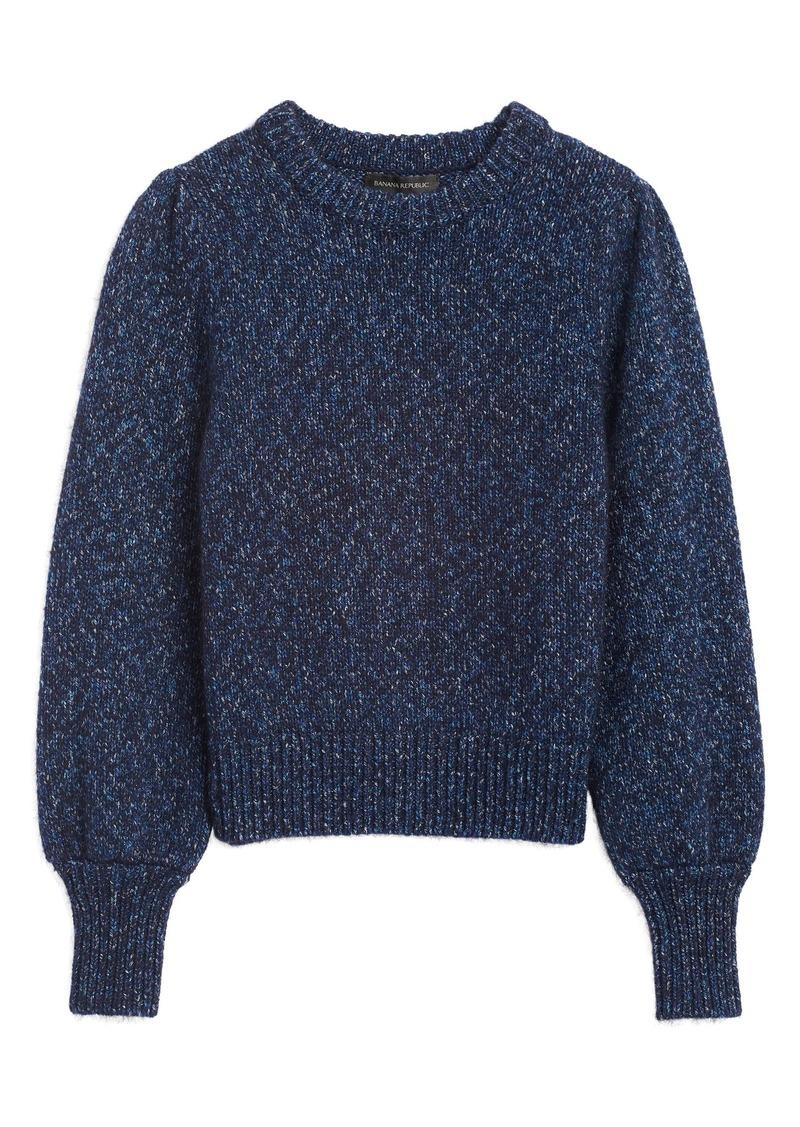 Banana Republic Metallic Puff-Sleeve Sweater