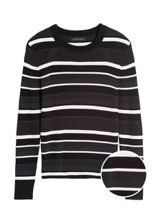 Banana Republic Metallic Stripe Sweater Top