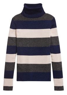 Banana Republic Metallic Turtleneck Sweater Top