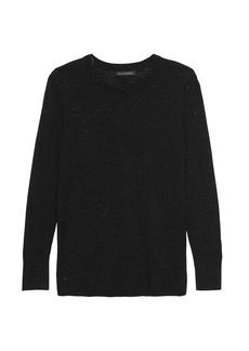 Banana Republic Metallic Wool-Modal Crew-Neck Sweater